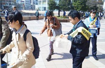 JR仙台駅でのキャンペーンの様子2