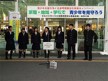 ①イベント会場 高校生による合唱の様子
