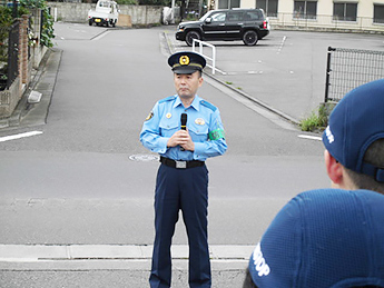 石神井警察署長による総括の様子