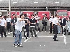 カラーボール投てき訓練